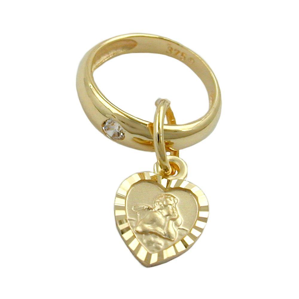 Taufschmuck Gold 375 Taufanhnger Anhnger Taufring Mit Herz 9 Kt GOLD