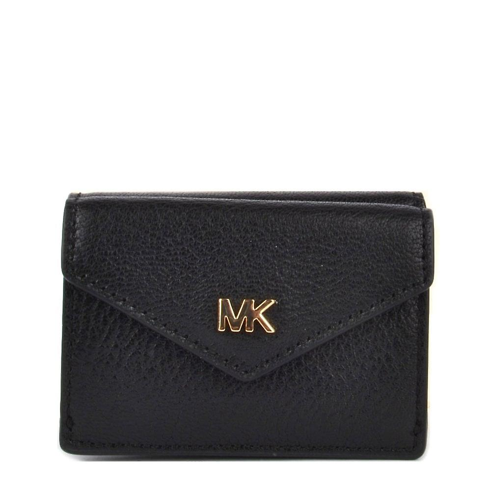 52502b513107 MICHAEL by Michael Kors Money Pieces Black Small Trifold Flap Wallet ...