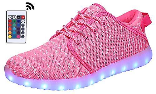 MOHEM ShinyNight hög topp LED skor lyser upp USB laddning blinkande sneakers