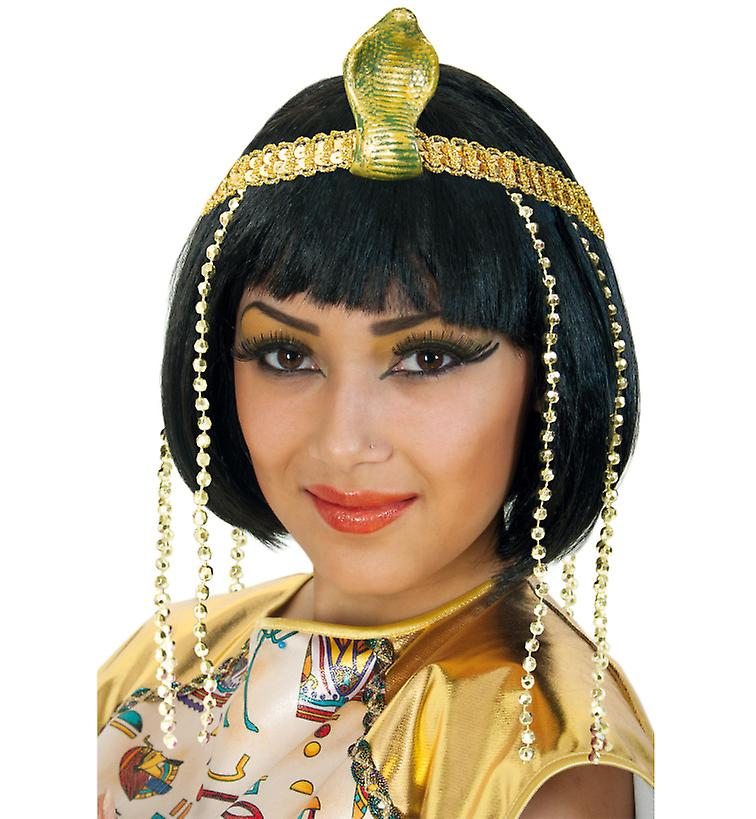 281f9b5b77f Cleopatra headband gold Cobra accessory Queen Egypt glitter