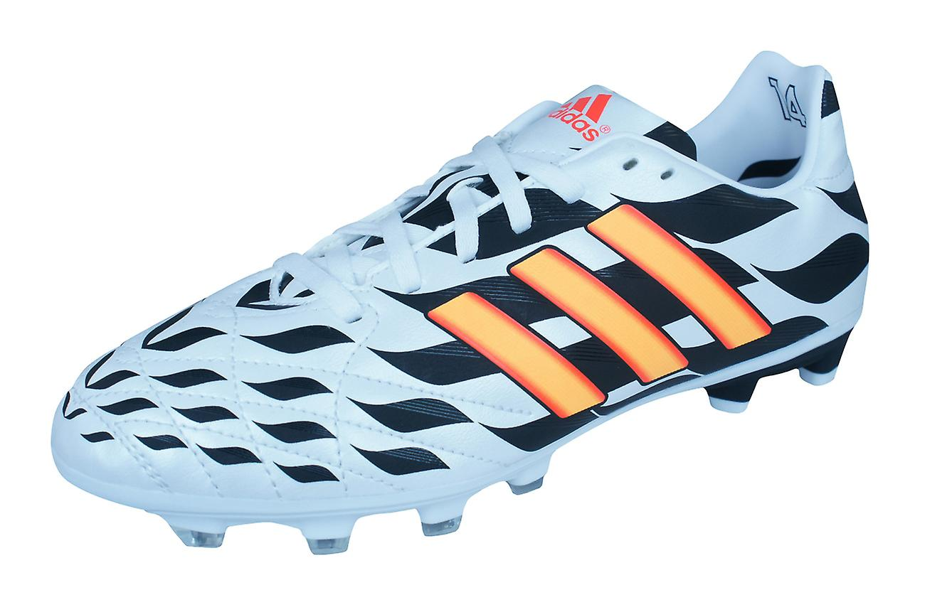 sports shoes f8072 f7ab6 Boys adidas Firm Ground Football Boots 11 Nova FG WC - White