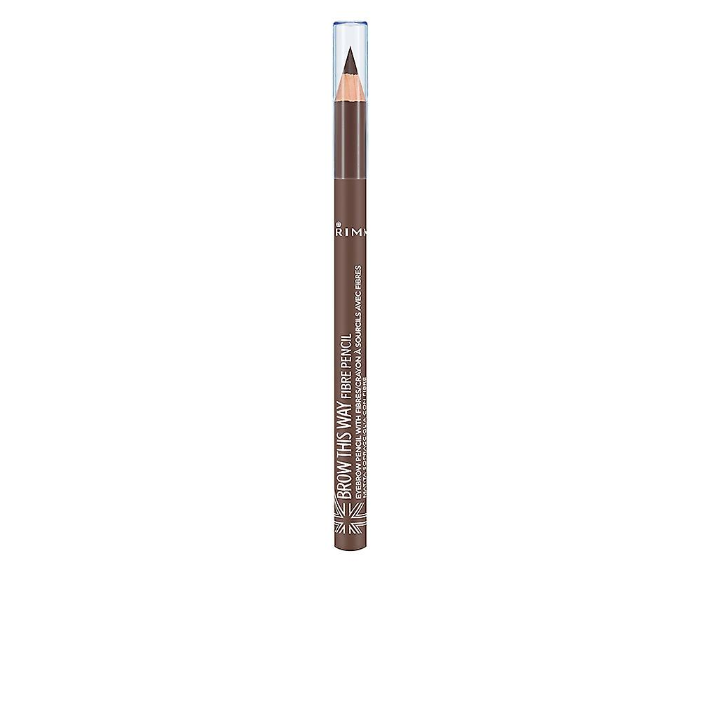 Rimmel London Brow This Way Fibre Pencil 002 Medium Brown For