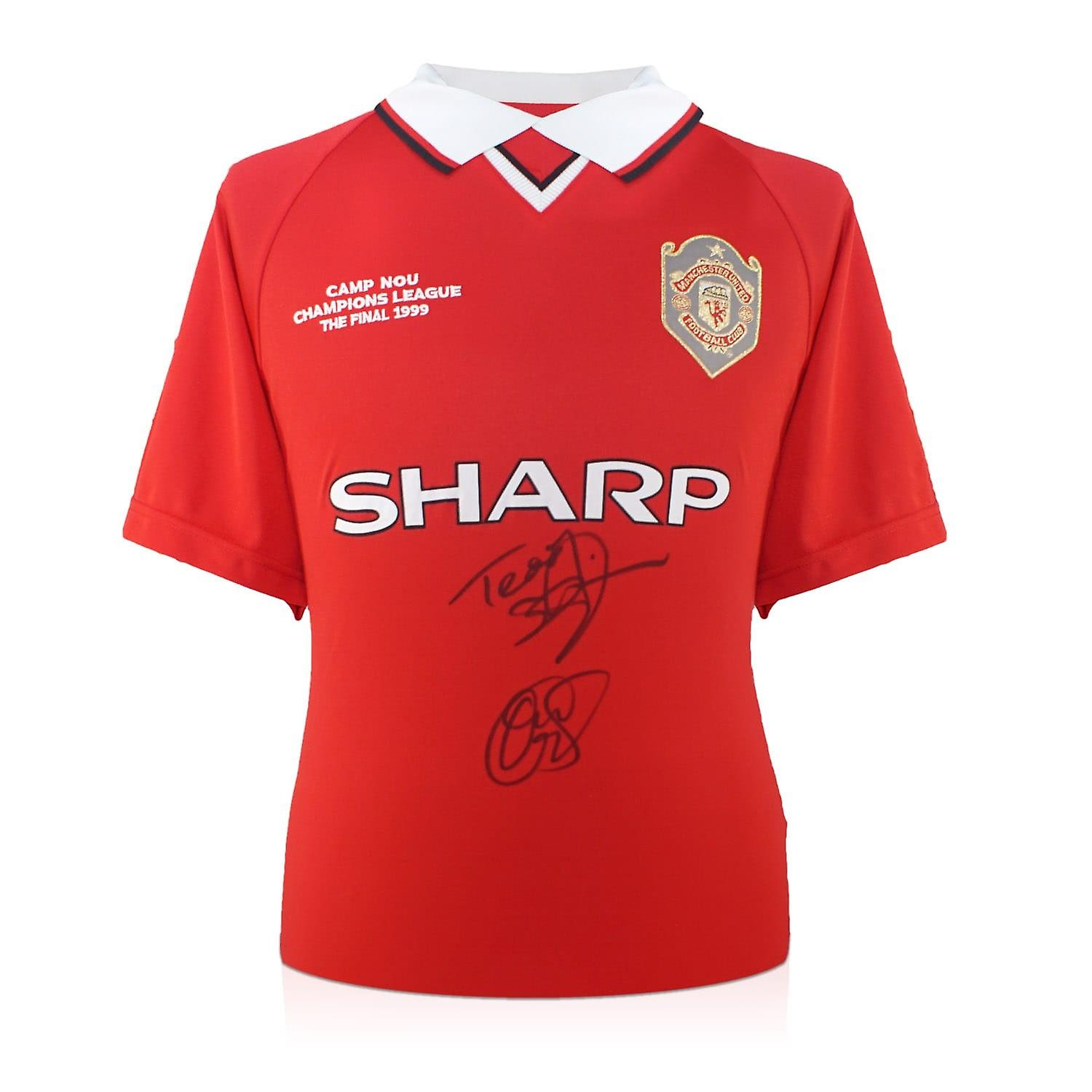 Teddy Sheringham And Ole Gunnar Solskjaer Signed 1999 Manchester United Champions League Shirt