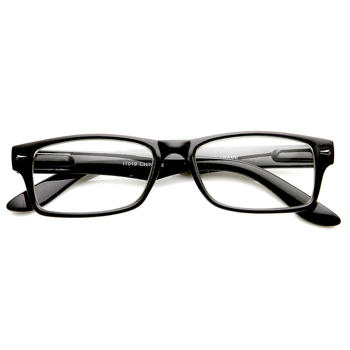 e13275716b5 Casual Fashion Horned Rim Rectangular Frame Clear Lens Eye Glasses ...
