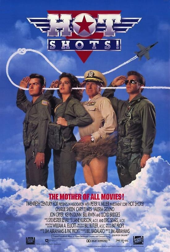 e02a9e8d Hot Shots Movie Poster Print (27 x 40)   Fruugo