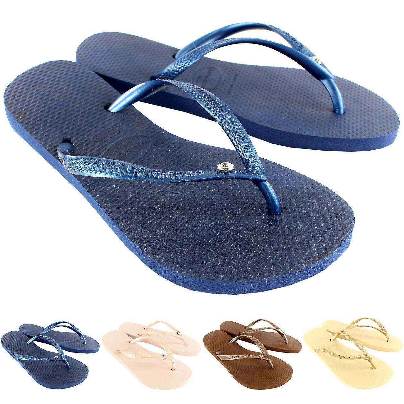 8d7ca629e Womens Havaianas Slim Crystal Glamour Sw Flip Flop Summer Sandal ...