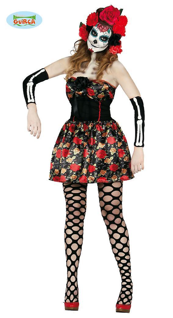 Halloween Kostuum Vrouw.Dag Van De Dode Schedel Jurk Halloween Kostuum Vrouw