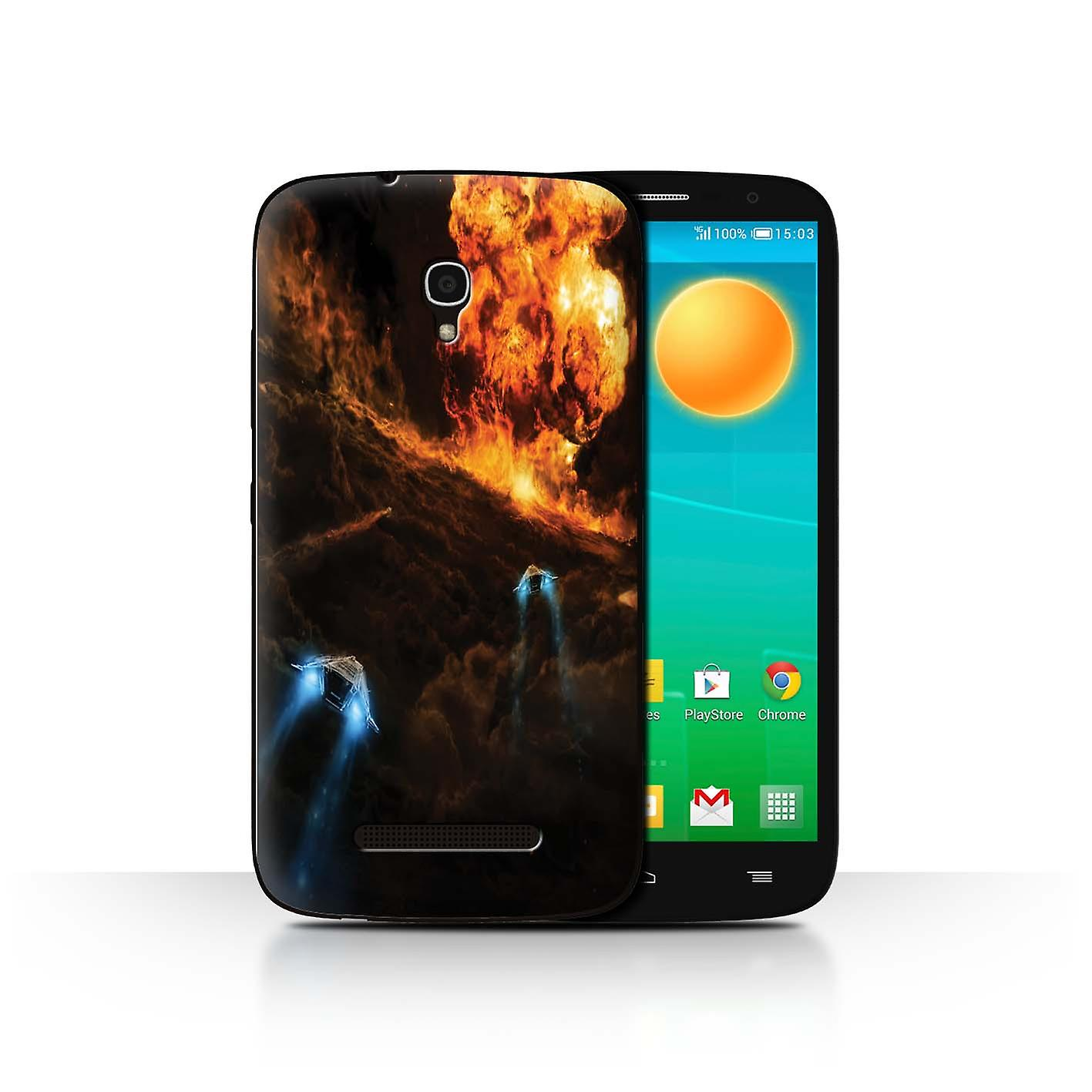 Official Chris Cold Case/Cover for Alcatel OneTouch Pop S9/Chaos  Unleashed/Alien World Cosmos