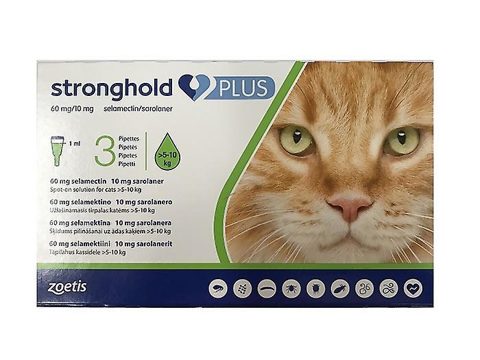 Stronghold plus gatti  Roccaforte Plus 60 mg/10 mg soluzione spot-on per gatti grandi > 510 ...