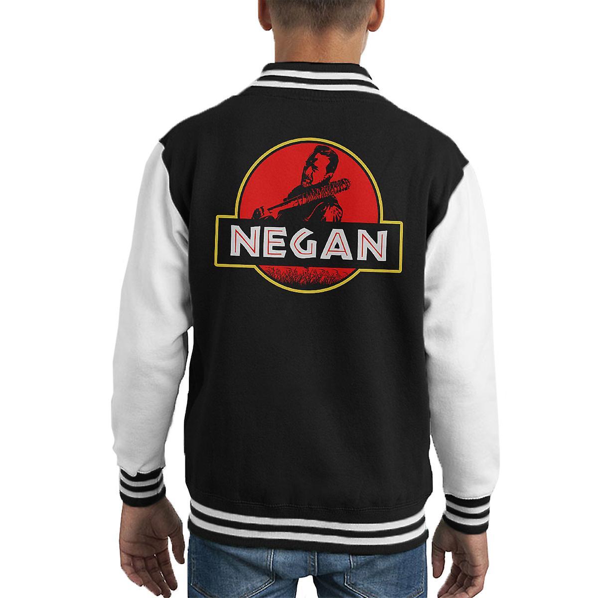 Jurassic Negan Walking Dead Park Kid s Varsity jacka  64f5dcabed877