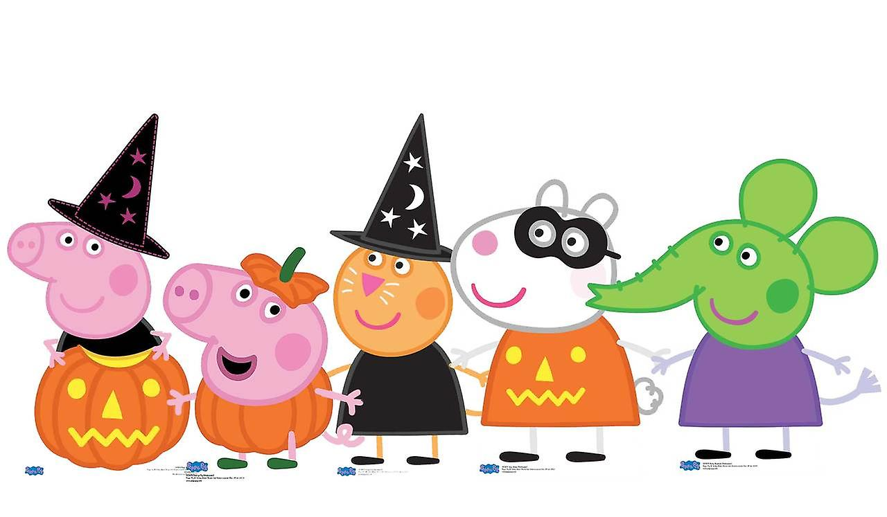 Halloween Thema.Peppa Pig En Vrienden Halloween Thema Kartonnen Uitsnijdingen Set Van 5