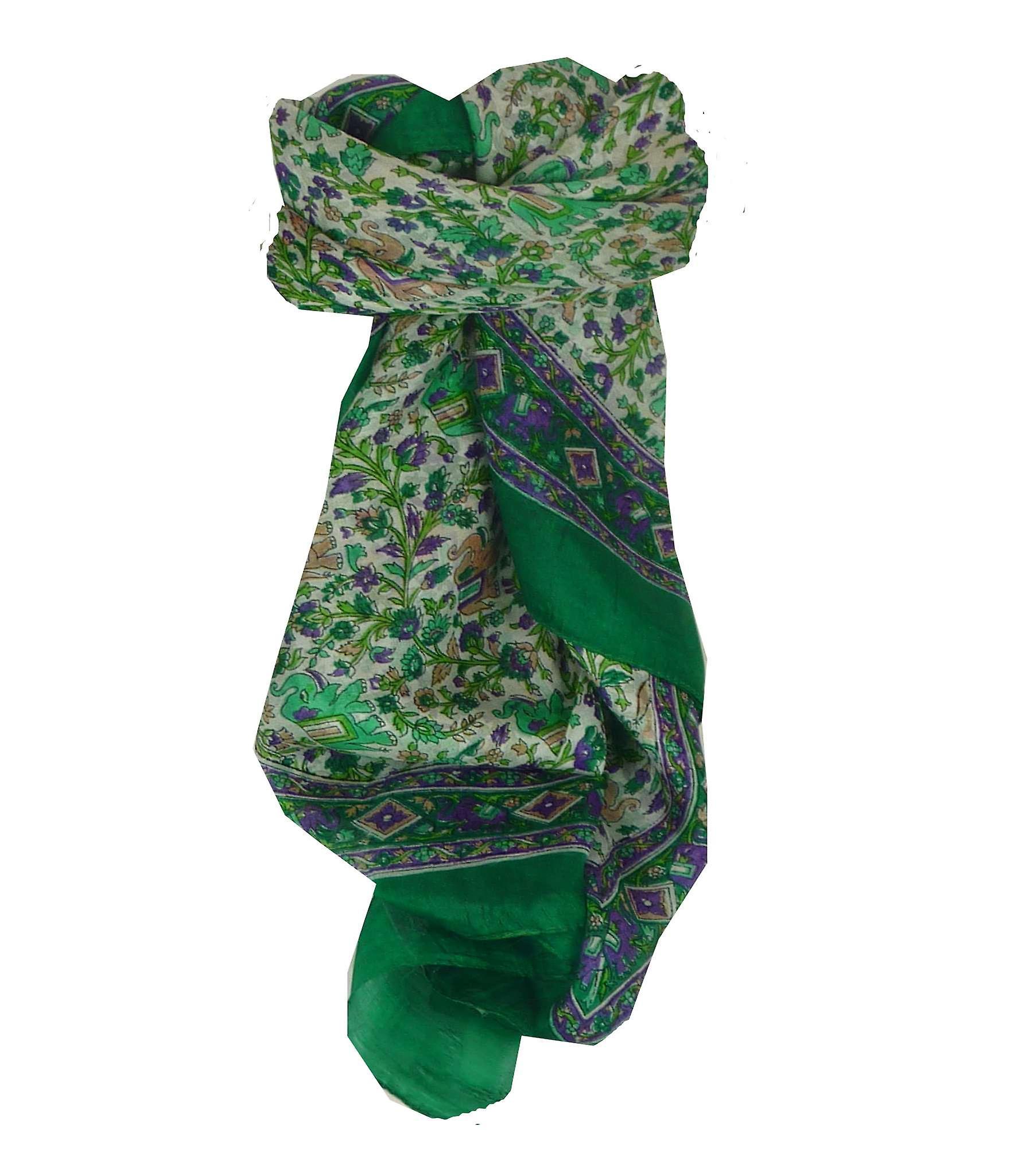 d185079460aab5 Maulbeere traditionelle quadratischen Seidentuch Jaipur Grün von Pashmina &  Seide