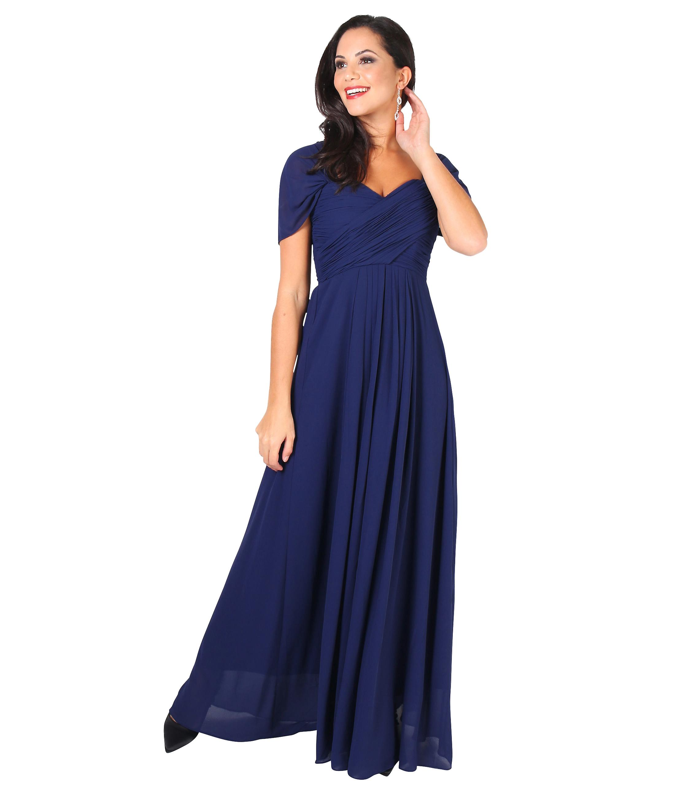 0cc5c7bc KRISP kvinner Prom Maxi kjole på off skulder Ball kappe kveld bryllup Long  Party 8-
