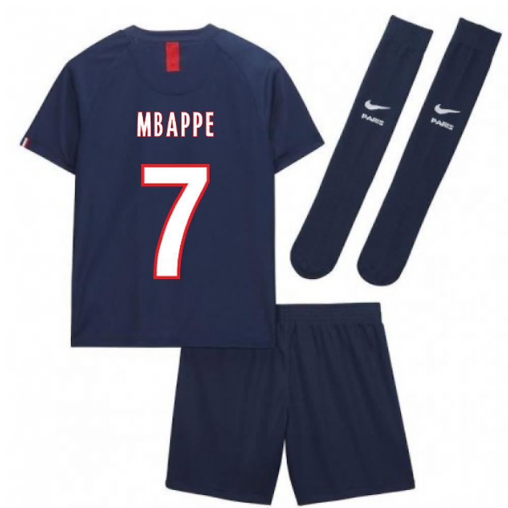 finest selection e1c5f 2e69f 2019-2020 PSG Home Nike Little Boys Mini Kit (MBAPPE 7)