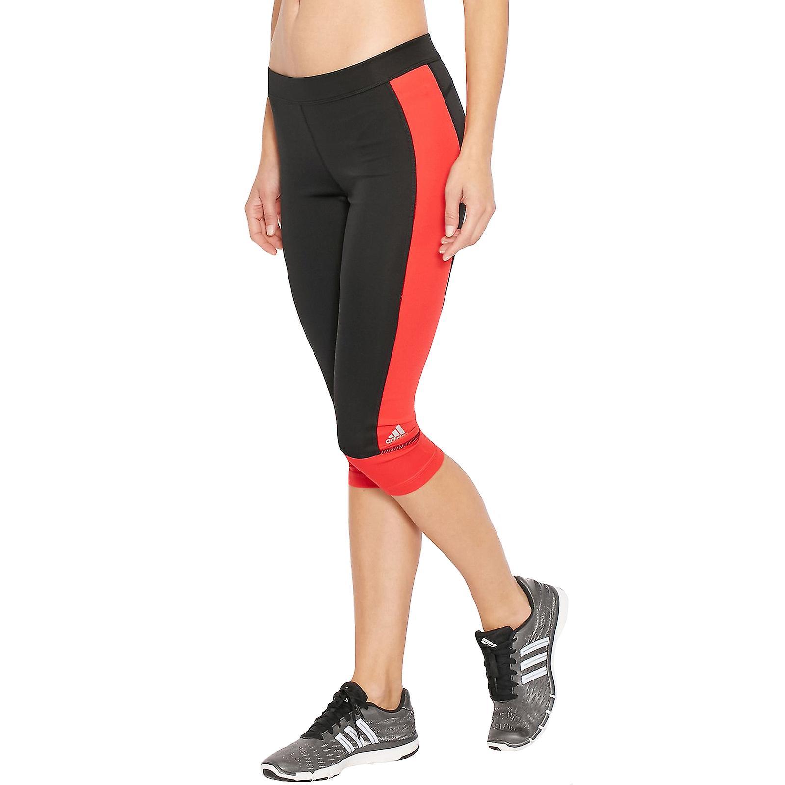 adidas Performance Womens Techfit Running Gym Sports Capri Tight Leggings