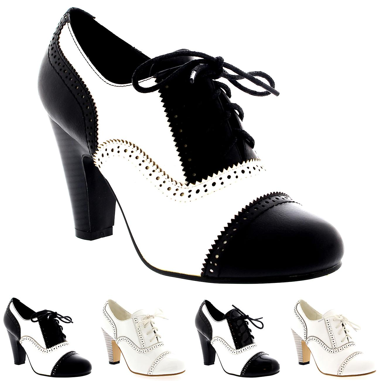 be01a4f65085 Womens Mid Block Heel Lace Up Evening Work Mary Jane Ankle Boot Shoes UK 3-