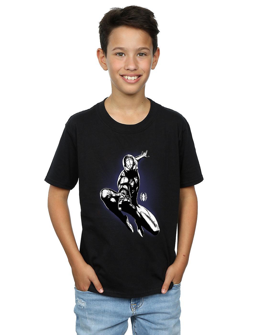 Homem aranha do Marvel meninos salto Spray t shirt