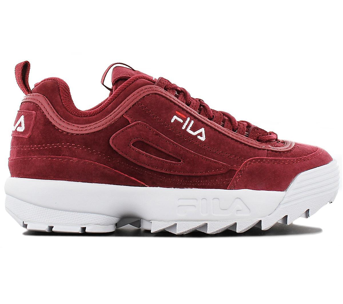 Fila disruptor S lav CR 1010553.40 K kvinners sko røde joggesko sport sko