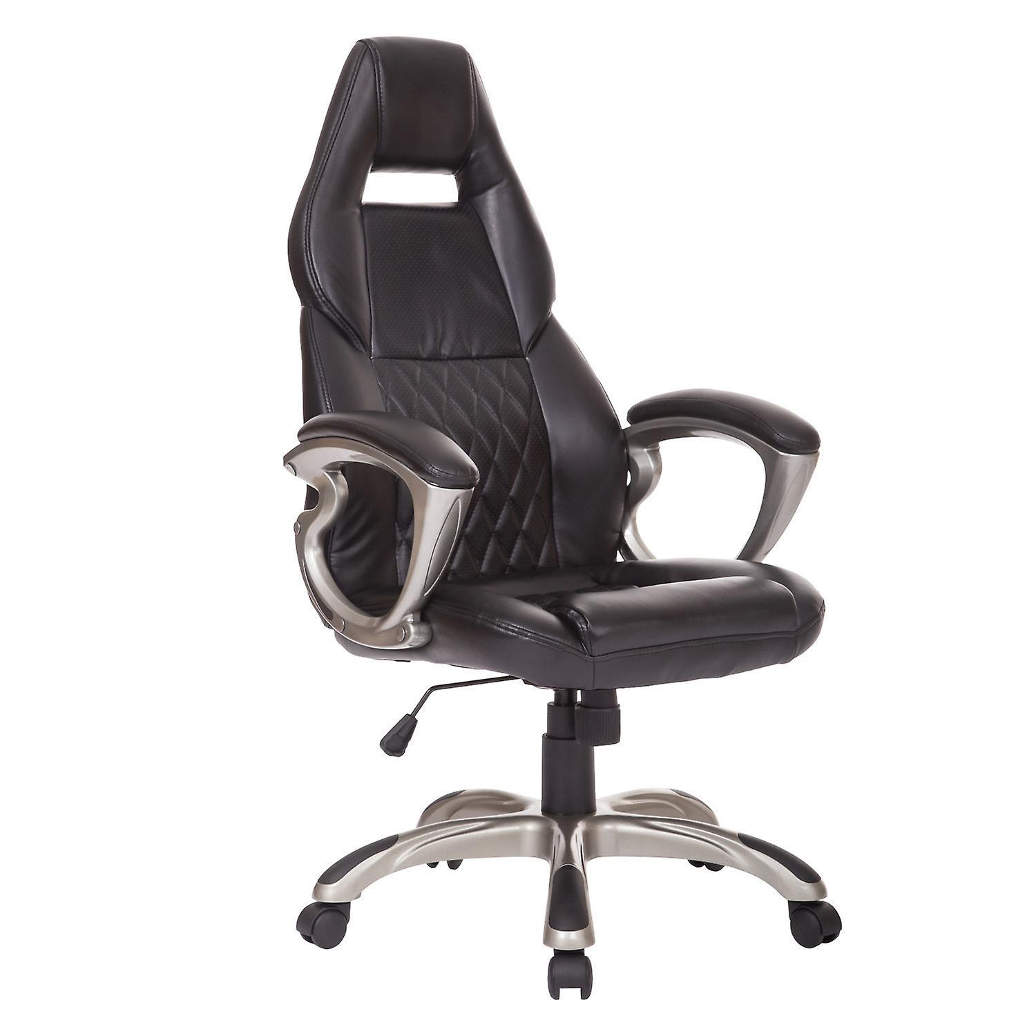 Amazing Homcom Racing Gaming Sports Chair Swivel Desk Chair Executive Leather Office Chair Computer Pc Chairs Height Adjustable Armchair Machost Co Dining Chair Design Ideas Machostcouk