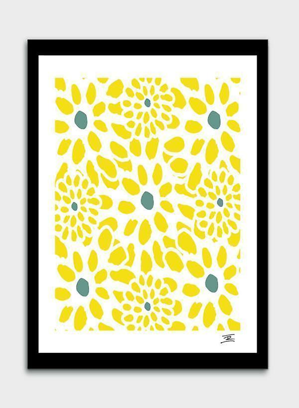 Flowers In Yellow Frame Fruugo