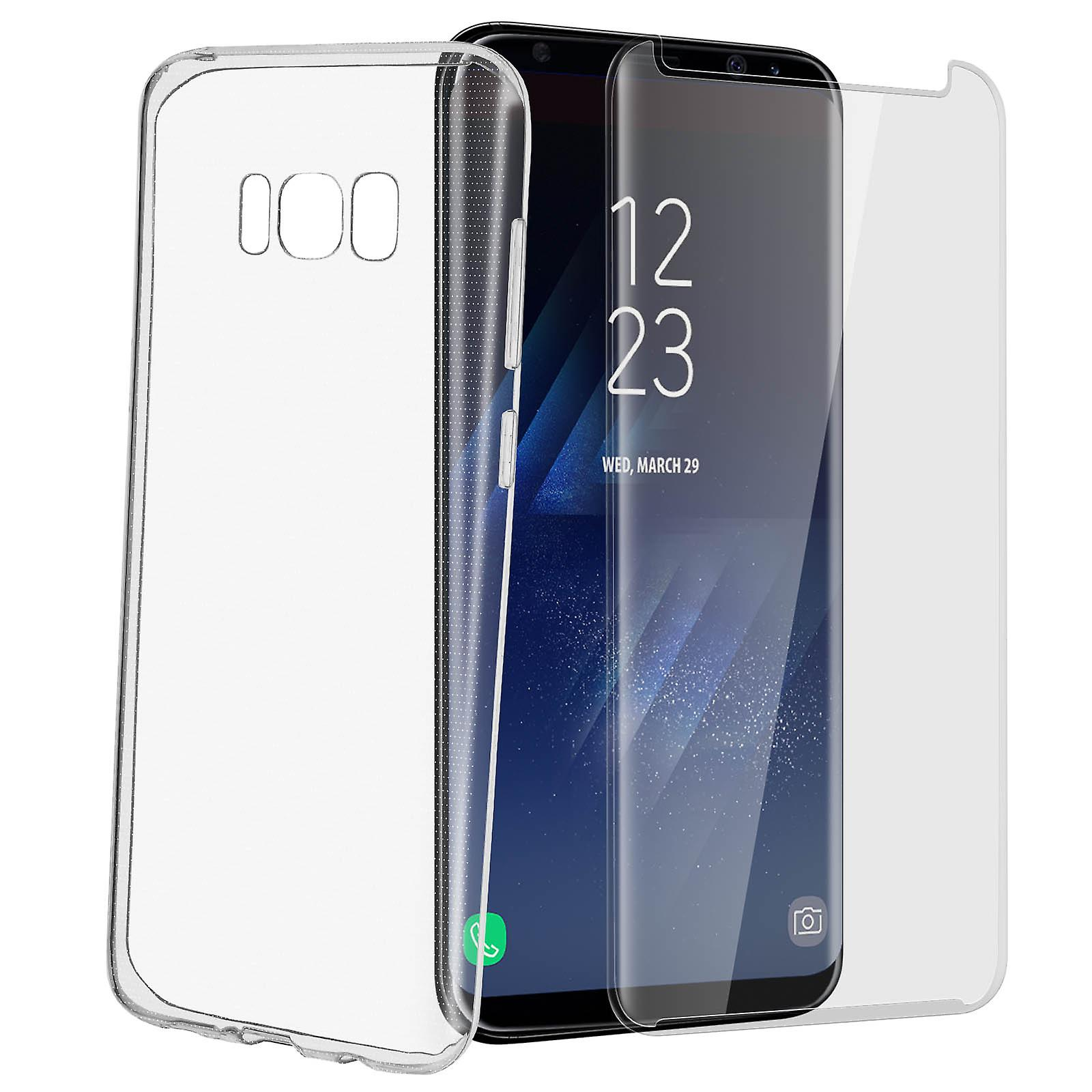 pretty nice 89aa2 ffd78 Back case + Screen Protector Tempered Glass Clear Samsung Galaxy S8 Plus