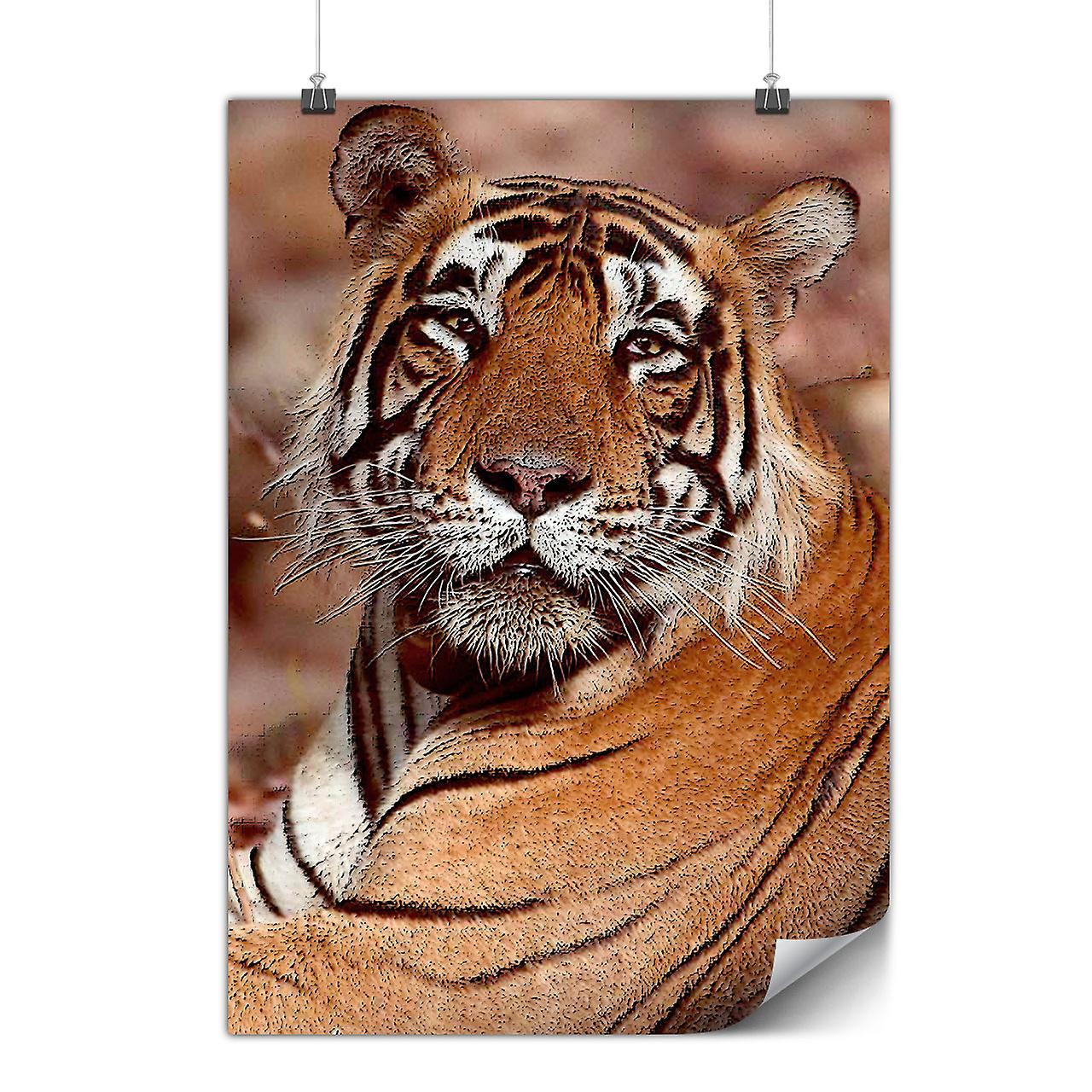 Matt Oder Glänzend Poster Mit Katze Tier Tiger Foto Wellcoda