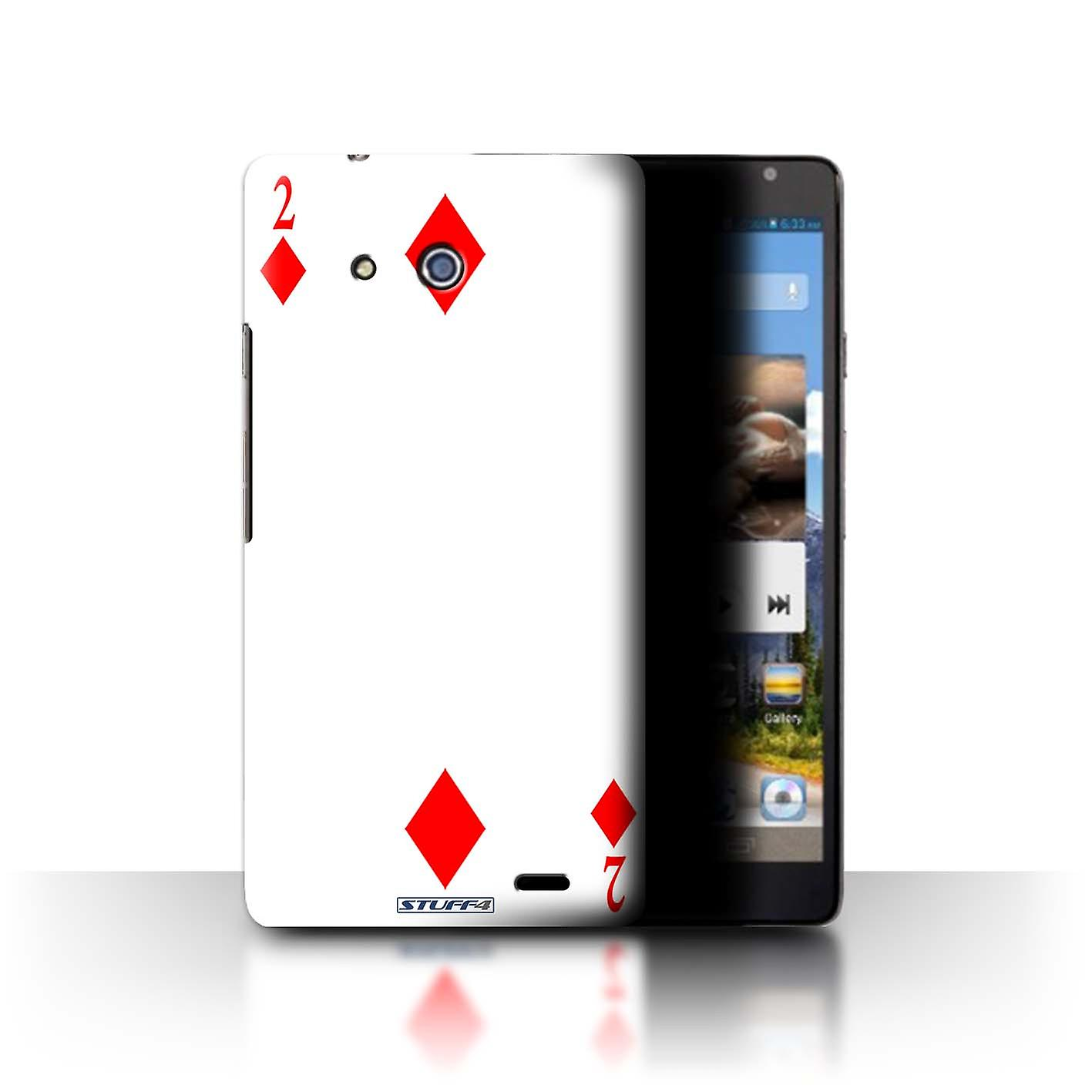 reputable site a1678 6df81 STUFF4 Case/Cover for Huawei Ascend Mate/2 of Diamonds/Playing Cards