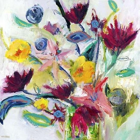 1d4724a82 Feliz Floral impresión de cartel por Pamela J Wingard