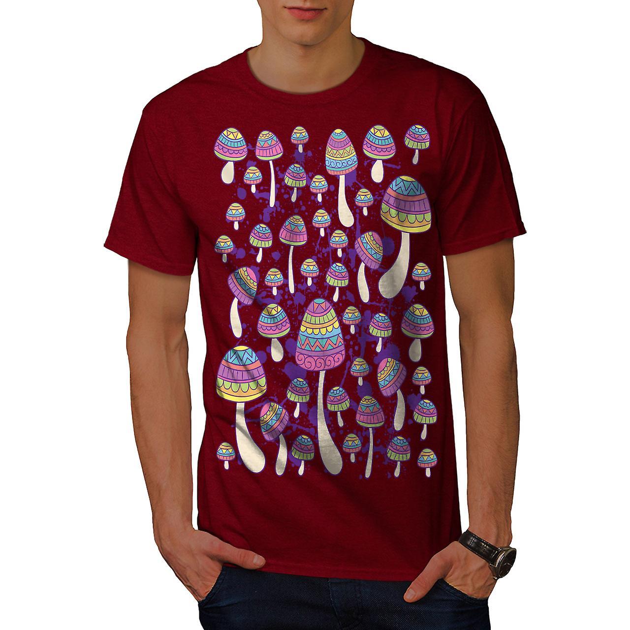 94b91d8e717b00 Artsy Mushroom Head Men RedT-shirt
