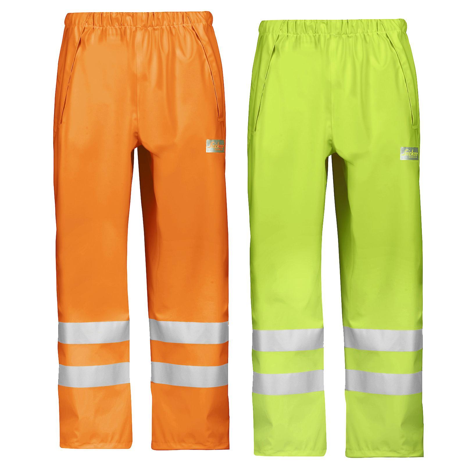 bdd3409a Snickers arbejdstøj Hej Vis vandtæt regn bukser (letvægts) klasse 2-8243