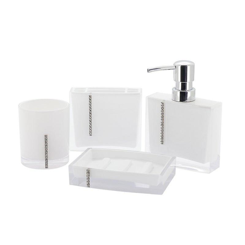 Immanuel Cristal 4-teilige Badezimmer Zubehör-Set | Fruugo