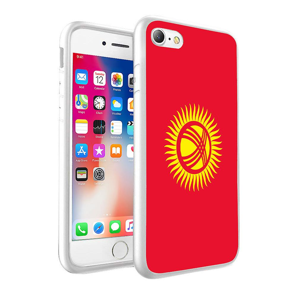 For Huawei Honor 8 - Kyrgystan Flag Design Printed White Case Skin Cover  with Tempered Glass - 0092 by i-Tronixs