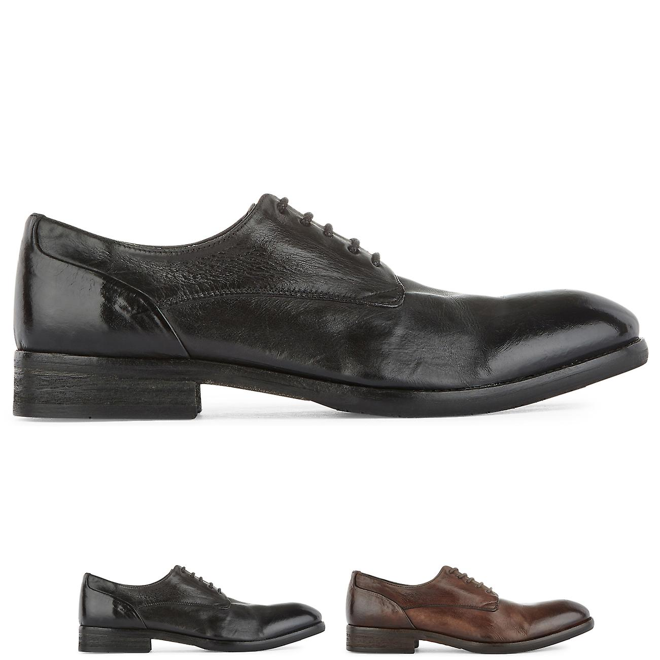 Mens H By Hudson Dorsay Leather Flat Office Smart Work Business