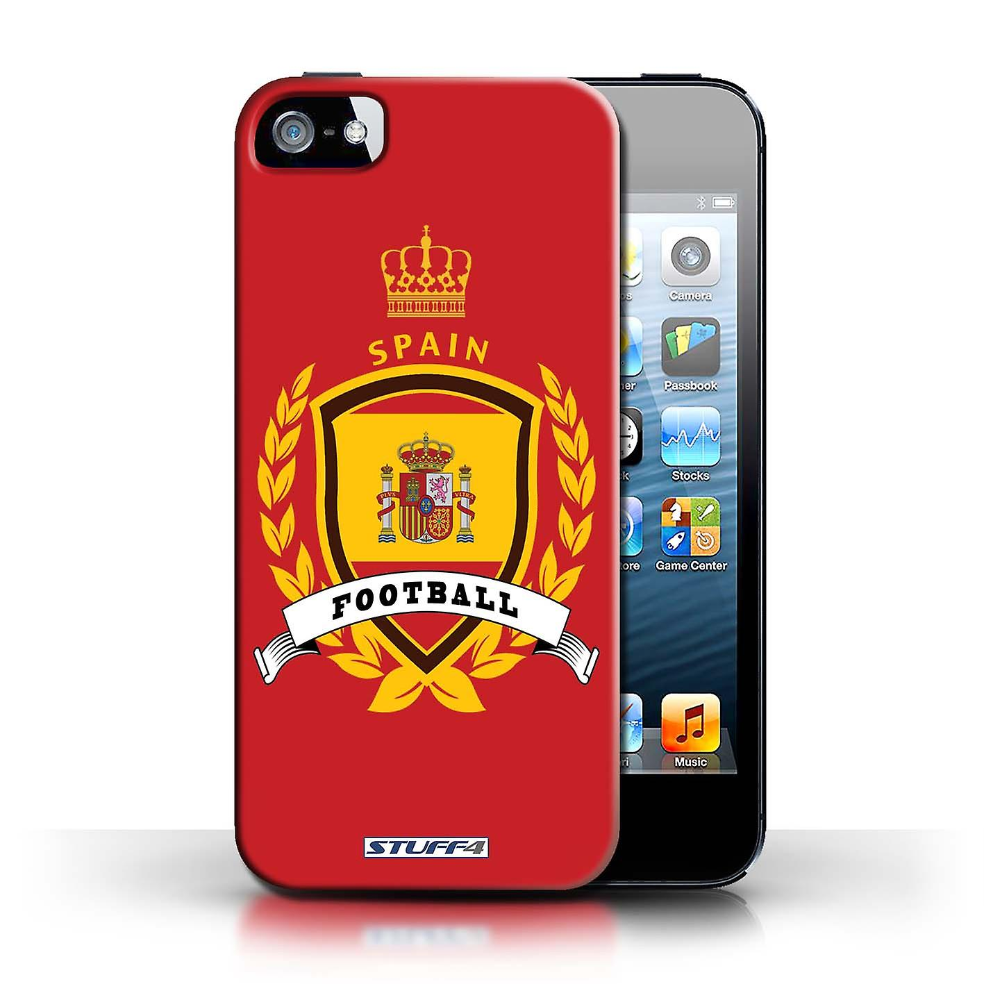 huge selection of f56da 4d52f STUFF4 Case/Cover for Apple iPhone SE/Spain/Spanish/Football Emblem