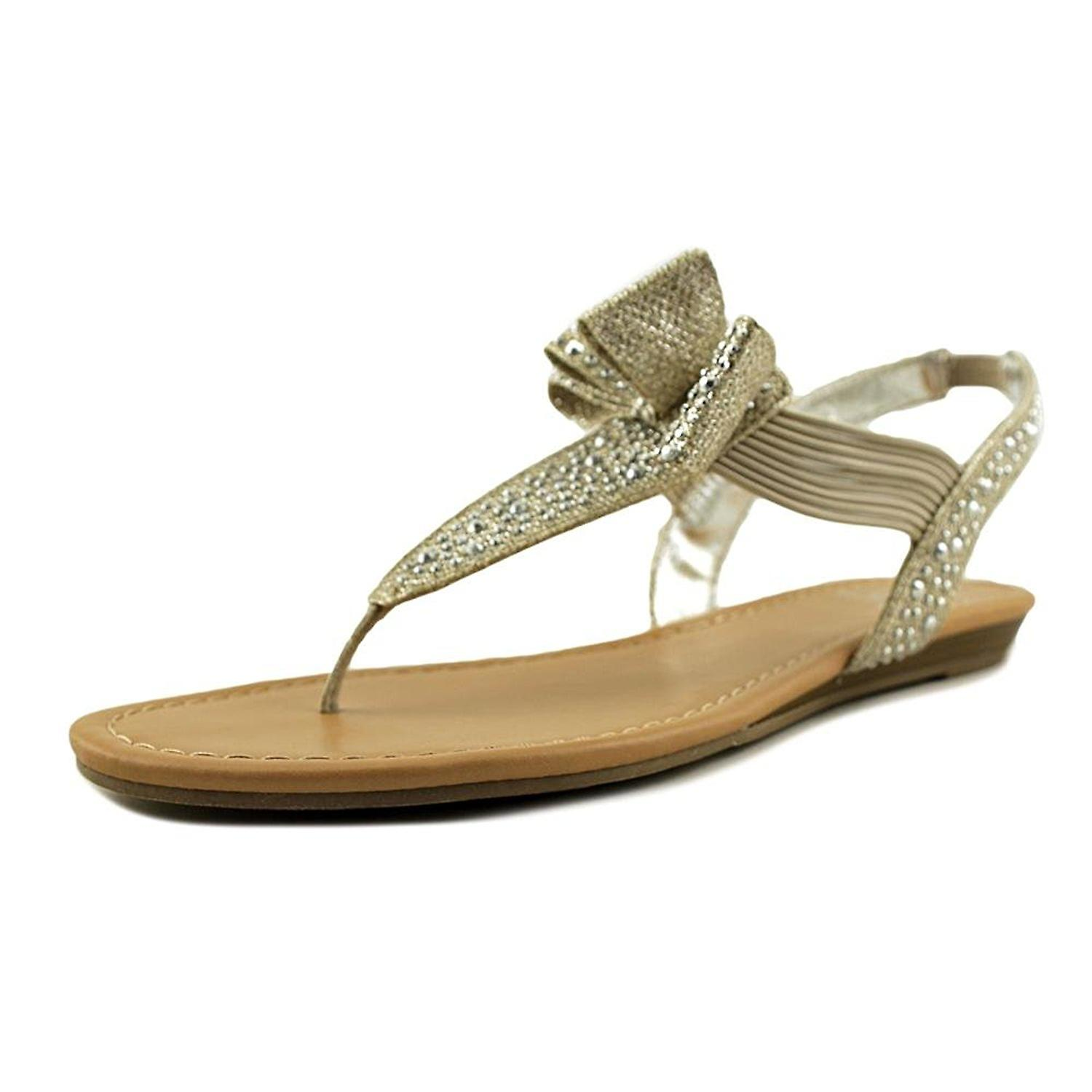 a66b8282b5c7 Material Girl Womens Shayleen Open Toe Casual Slingback Sandals