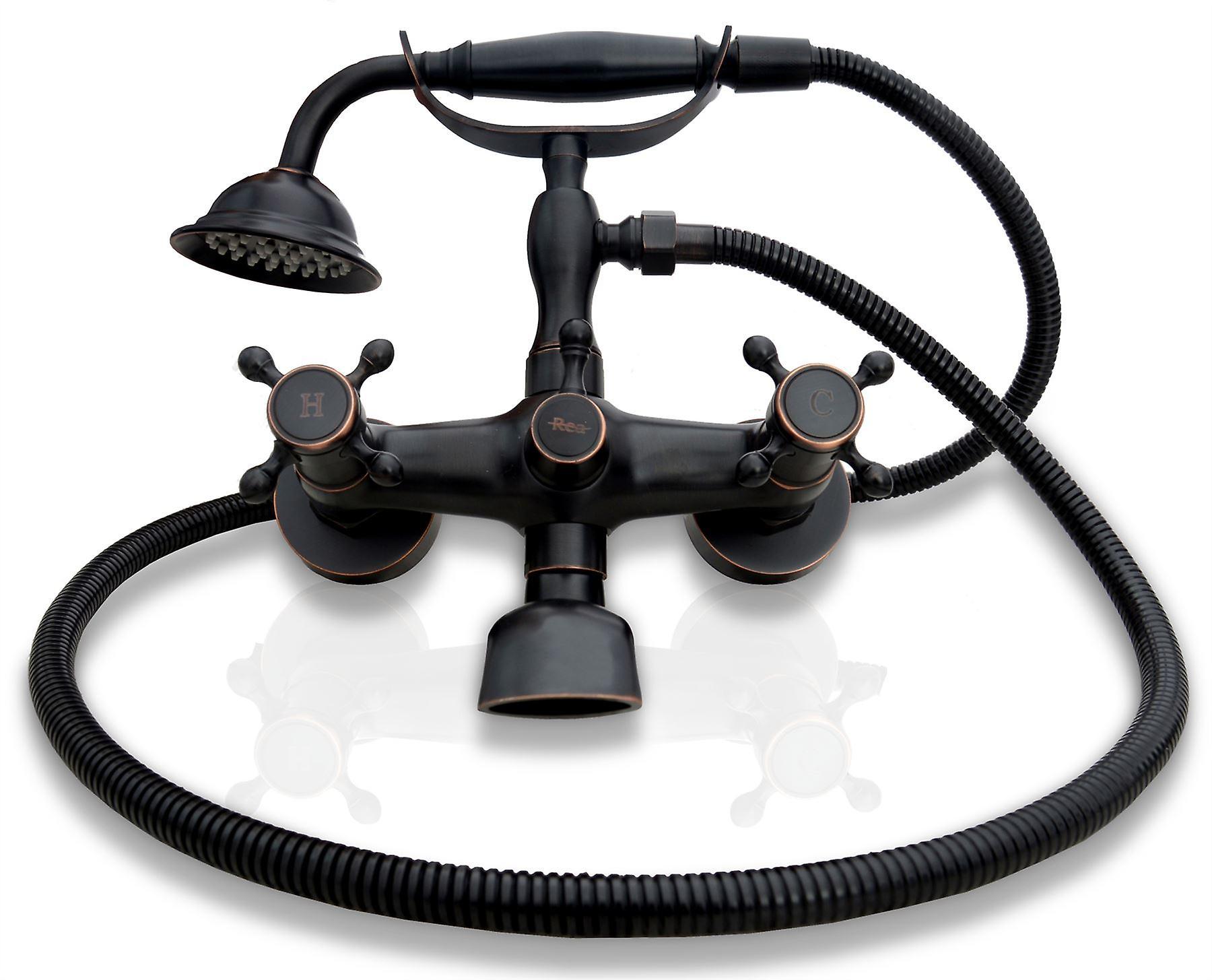 Vintage Bad Wasserhahn Mischer Bad Armatur Retro Alte Schwarze Mit