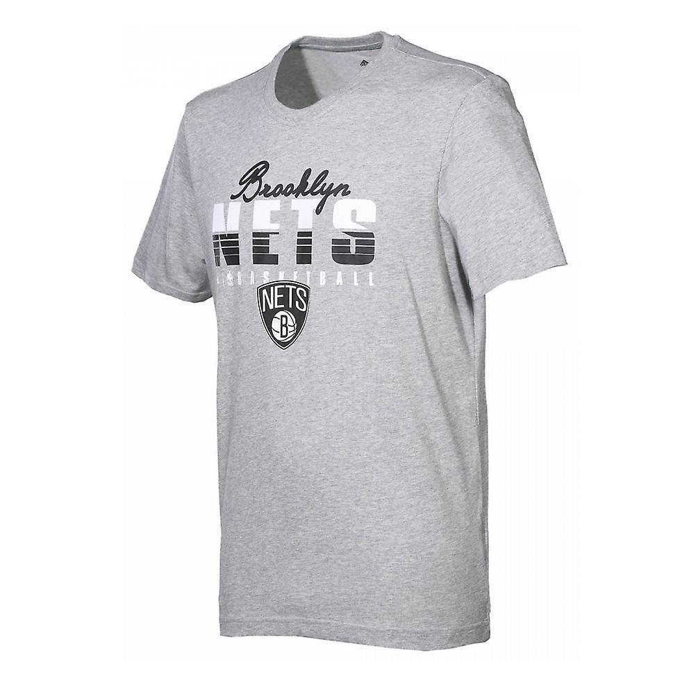 029af0a90 ADIDAS NBA Brooklyn Nets Basketball T-Shirt [grey]   Fruugo