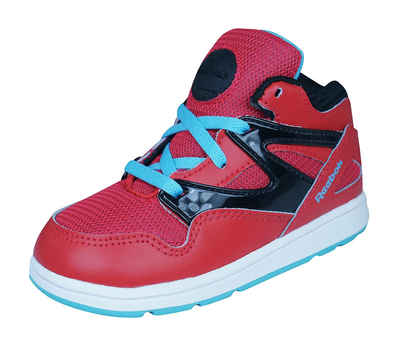 65b7375a15752d Reebok Classic Versa Pump Omnilite Kids   Trainers   Shoes - Red ...