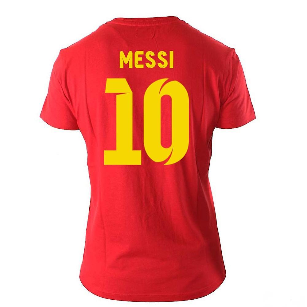 fd846e465fa Lionel Messi Visca El Barca Hero T-Shirt (Red)