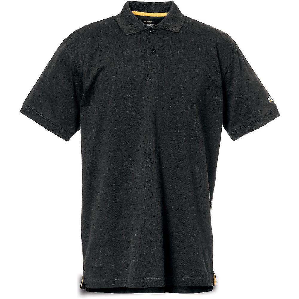 Cat Werkkleding Mens Classic Vocht Controle Addertje Onder Het Gras Vrij Werk Poloshirt