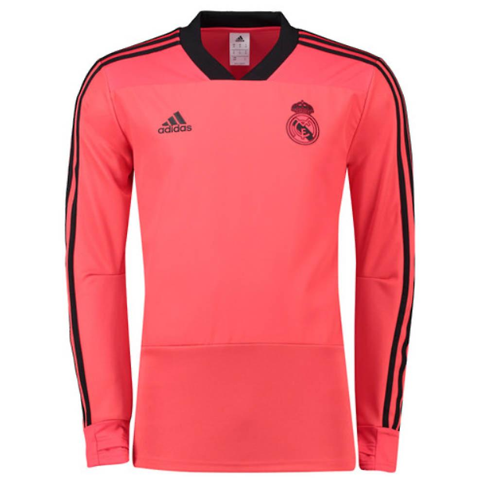 2018-2019 Real Madrid Adidas UCL Training Top (Red)  9860675ae
