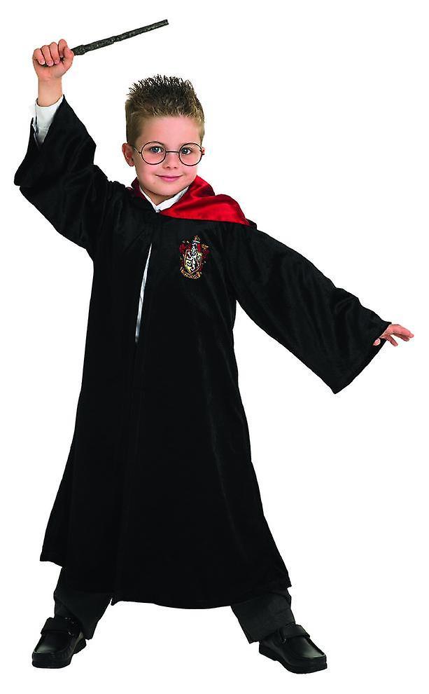 Harry Potter Deluxe robe black costume children carnival cloak Halloween  Wizard fcbfa7540