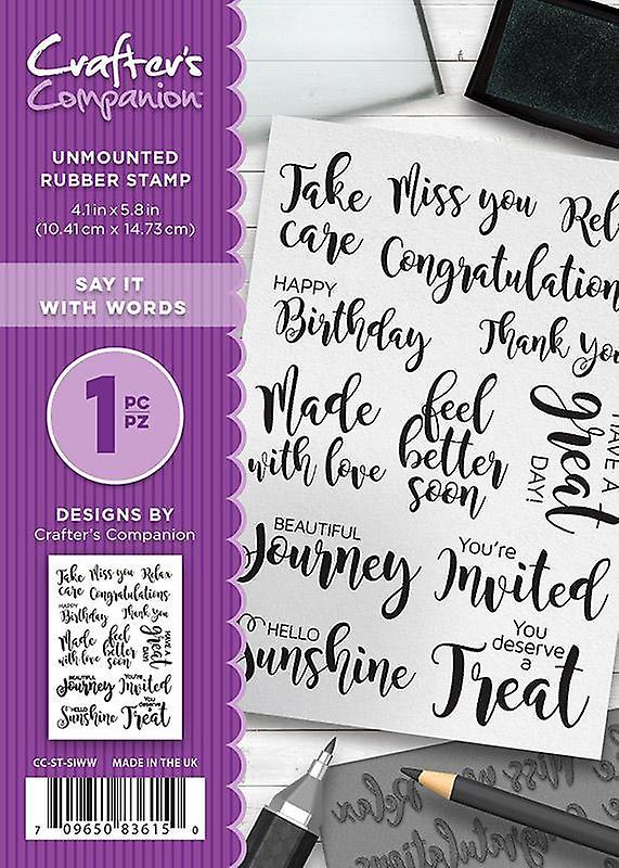 New Crafter/'s Companion Unmounted Rubber Stamps Say It With Words