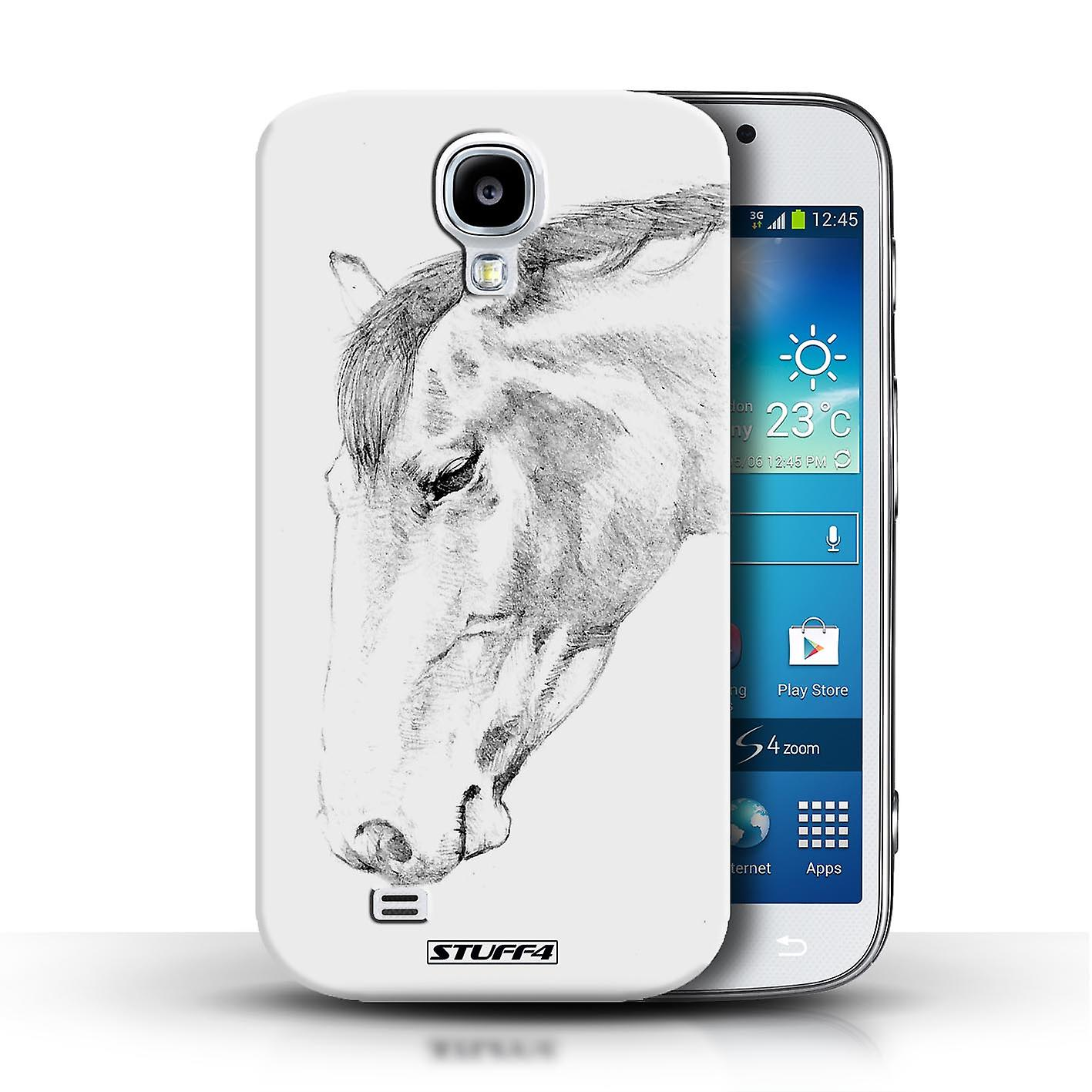 cheap for discount e67d0 a7111 STUFF4 Case/Cover for Samsung Galaxy S4/SIV/Horse/Sketch Drawing