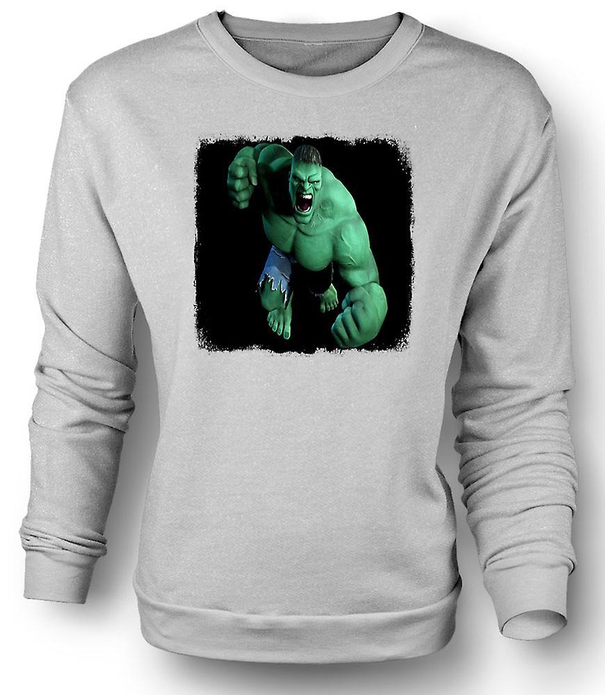 Womens sweatshirt incredible hulk fist fruugo for Hulk fishing shirts