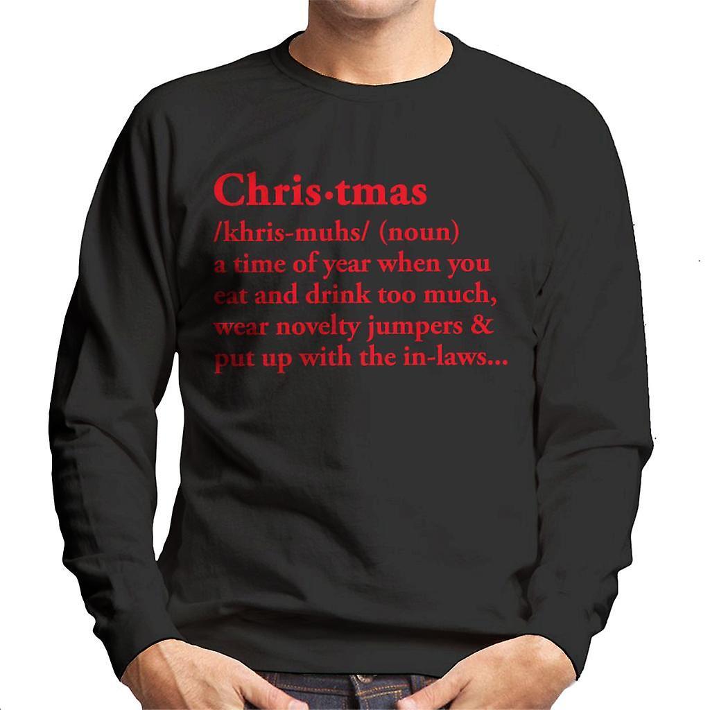 Definition Weihnachten.Definition Von Weihnachten Trinken Zuviel Herren Sweatshirt