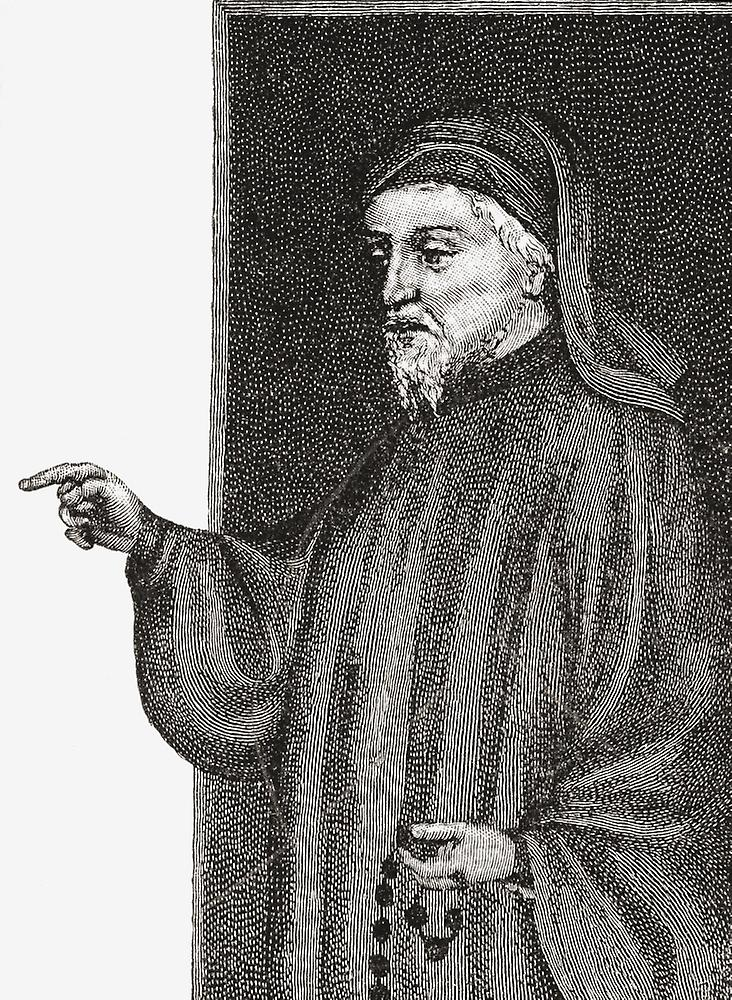 geoffrey chaucers use of sarcasm to describe The character of the prioress in geoffrey chaucer's canterbury tales is a woman of two faces she is introduced in the general prologue as an aristocratic, genteel, pious nun, but she is a raving bigot, because her tale is full of anti-semitic attitudes.