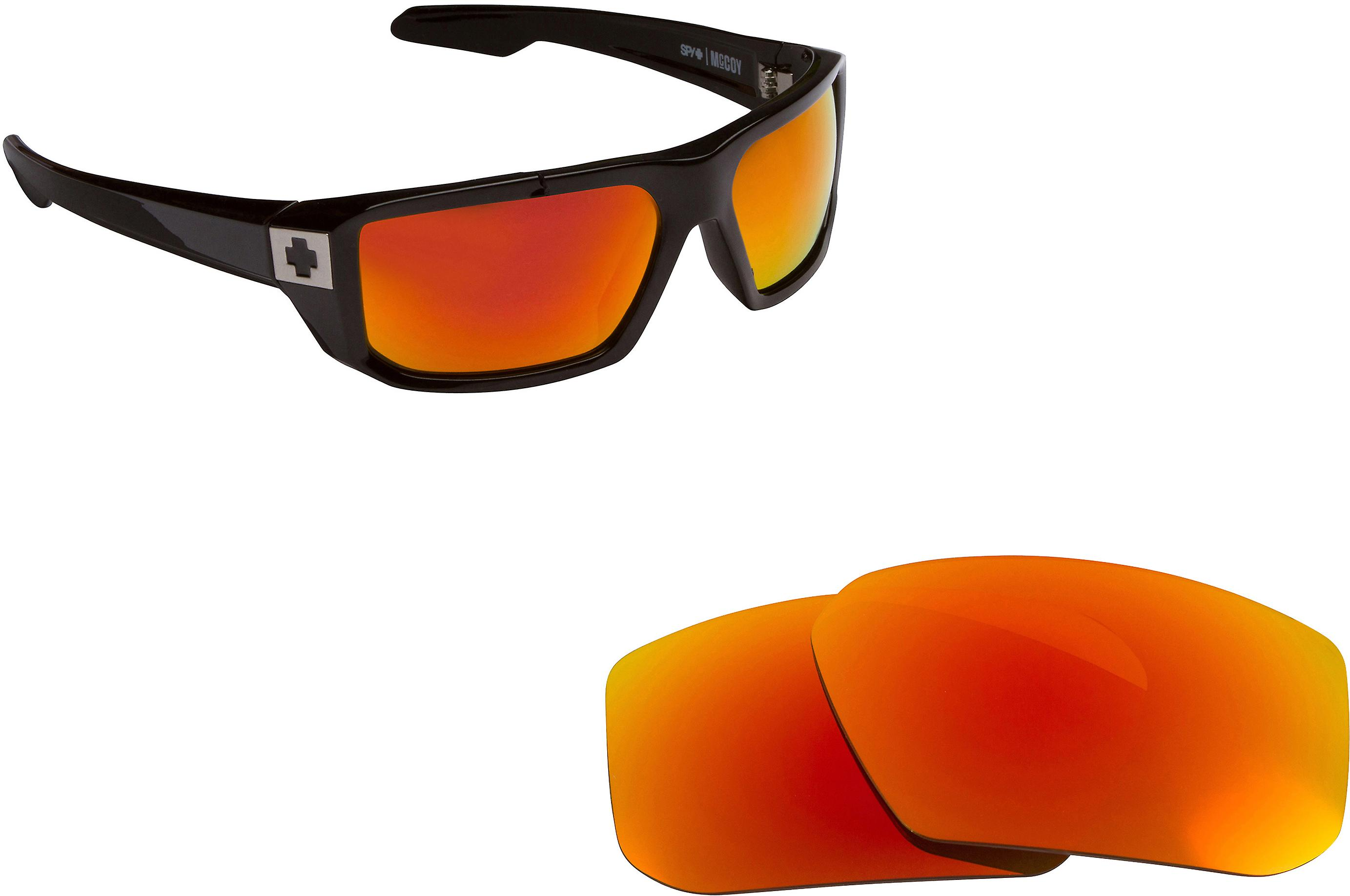 c4366210b7 McCOY Replacement Lenses Polarized Red Mirror by SEEK fits SPY OPTICS  Sunglasses