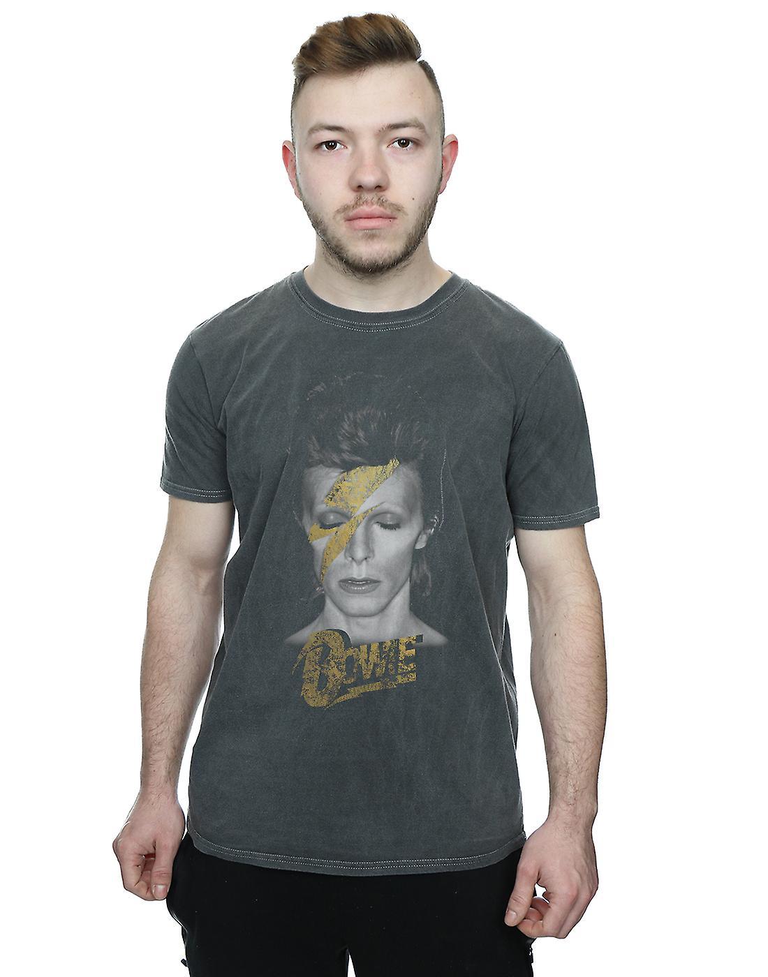 David Bowie Girls Aladdin Sane Gold Bolt T-Shirt