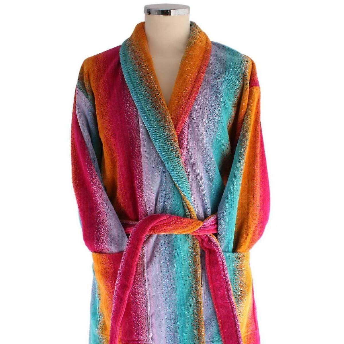 Bown of London Sunset Egyptian Cotton Velour Dressing Gown - Pink ...